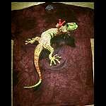 T Shirt    cool peace Gecko  Echse
