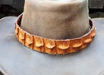 Hutband Crocodil Krokodilleder braun