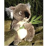 Koala mit Eukalyp Blatt  30cm extrem weich