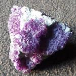 10cmAmethyst Quarz Stein Geode Cooper Pedy