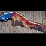 Echse Leguan auf Treibholz modelliert 20cm