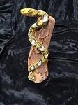 Schlange auf Treibholz ca 30cm