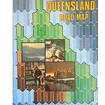 Road Map Karte Queensland 85x60cm