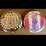 Button Nadel Aborigines Malerei 2er Set