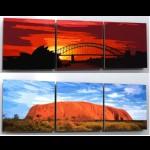 Poster Sydney Hafen oder Ayers Rock 93cm