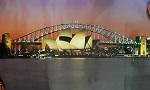 Poster Sydney Harbour bei Nacht 59x42cm