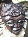 Afrika Holz Maske Masai 33x28cm
