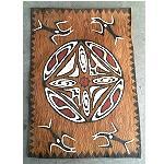 Malerei auf Baumrinde 54 x 38 cm