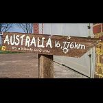 Holzschild Zaunlatte AUSTRALIA next.. 40cm