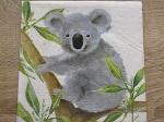 4er Set Servietten mit Koala im Baum