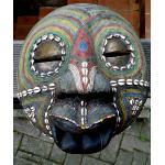 Holz Maske Muscheln Perlen Messing 30cm