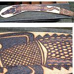 Jagdbumerang Antik  Krokodil  63cm