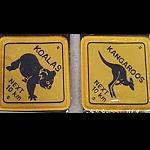 Aufnäher Straßenschild Koala / Roo 5,5cm