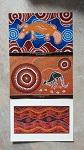 3er Postkartenset Aborigines Malerei