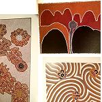 2 Poster Set mit Aboriginesmalerei  40cm