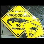 Schild +Saugnapf 12 cm Australien Tiere