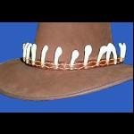 Hutband mit Zähnen,  Wasserbüffel