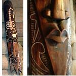Holzmaske Maske mit Skorpion 100cm