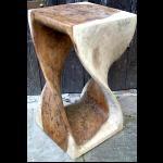 Holz Hocker Beistelltisch 50cm, 1 Stamm