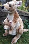 Stofftier Känguru mit großem Baby 42cm