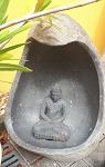 55cm Buddha Schrein Altar echt Stein Höhle