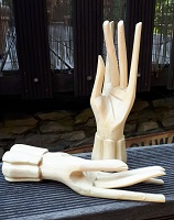 Eben Holz Hand 2er Set Ringhand 18cm
