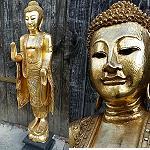 Buddha Thailand Holz 113cm 2.Wahl