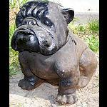Steinfigur  Bulldog Hund 40cm
