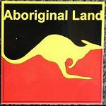 Aufkleber Aboriginal Land 10x10cm