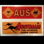 Aufkleber 2er Set  Down Under  16,5x 5,5