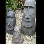 Osterinsel Moai GussStein Kopf ca 40cm