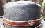 Hutband braun + Metallzeichen