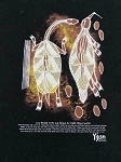 Stoffdruck Aborigines Malerei 43x38cm