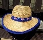Strohhut mit Australien Flagge 58 60