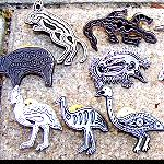 Pin Metall Aborigines Malerei silber
