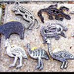 Pin Metall Aborigines Malerei silber
