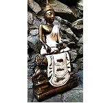 Buddha Figur Poly Stone 33cm