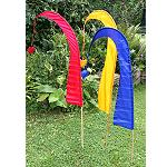 3 Stück 130cm Bali Garten Fahne Fahnen