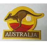 Aufnäher Känguru Outback Sonnenuntergang