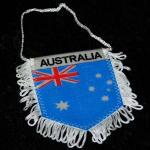 Wimpel Fahne Australien mit Fransen