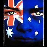 Aufkleber Gesicht Flagge Australien