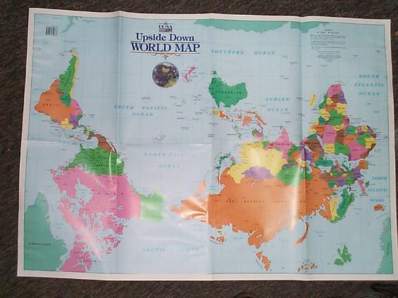 WeltKarte ausSicht Australiens ...