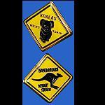 Pin  Straßenschild Känguru Koala