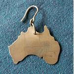 Ohrring Anhänger Australien Karte 3,5cm