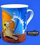 Kaffeebecher Tasse Surfen Känguru