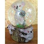 Schneekugel + Glitterflocken 6cm Koala