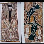 Poster mit Aborigines Malerei  45x94cm