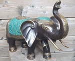 6x bronze elefant big 40cm