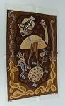 Malerei der Aborigines Stoffdruck 77cm