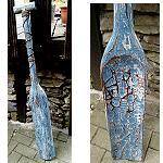 Holz Paddel Tiki Bar Holz Maori 120cm